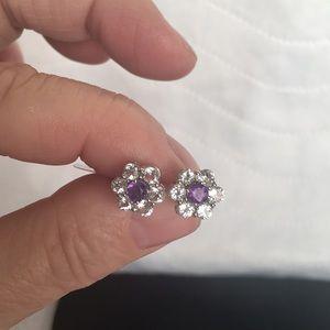 NWOT 925 Sterling Silver Flower Stud Earrings